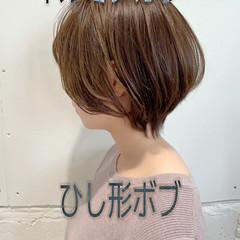 ボブ ナチュラル 大人女子 ショートヘア ヘアスタイルや髪型の写真・画像
