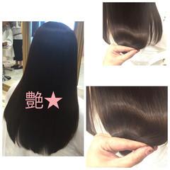 ナチュラル ミディアム トリートメント 艶髪 ヘアスタイルや髪型の写真・画像