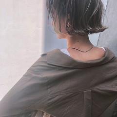 グレージュ ハイライト 外国人風カラー ナチュラル ヘアスタイルや髪型の写真・画像