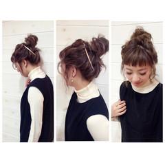 大人かわいい ゆるふわ ヘアアレンジ ミディアム ヘアスタイルや髪型の写真・画像