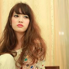 外国人風 ロング ガーリー ストリート ヘアスタイルや髪型の写真・画像