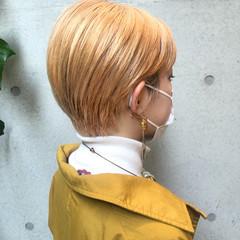 ショートカット ハイトーン ナチュラル ショート ヘアスタイルや髪型の写真・画像