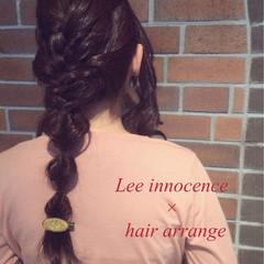 セミロング パーティ ショート 簡単ヘアアレンジ ヘアスタイルや髪型の写真・画像