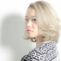 ミディアム 外国人風 ガーリー 渋谷系 ヘアスタイルや髪型の写真・画像