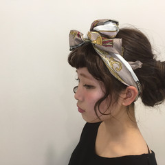 ショート ロング ガーリー ヘアアレンジ ヘアスタイルや髪型の写真・画像