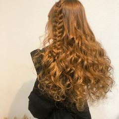 ヘアセット ロング 編み込みヘア 編み込み ヘアスタイルや髪型の写真・画像