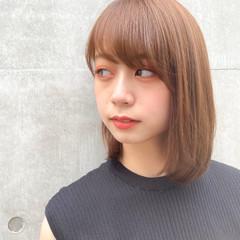 縮毛矯正ストカール ボブ 縮毛矯正 切りっぱなしボブ ヘアスタイルや髪型の写真・画像