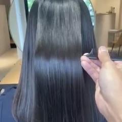 縮毛矯正 ミディアム 似合わせカット ストレート ヘアスタイルや髪型の写真・画像