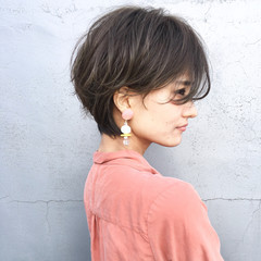 デート ヘアアレンジ こなれ感 ショート ヘアスタイルや髪型の写真・画像