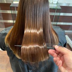 ナチュラル 縮毛矯正 トリートメント 艶髪 ヘアスタイルや髪型の写真・画像