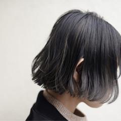 ニュアンス 黒髪 ボブ ハイライト ヘアスタイルや髪型の写真・画像