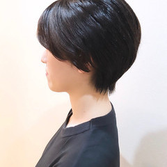 ショートボブ ボブ エレガント ショートヘア ヘアスタイルや髪型の写真・画像