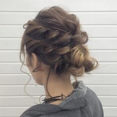 上品 ヘアアレンジ セミロング 冬 ヘアスタイルや髪型の写真・画像