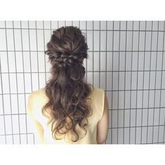 ヘアアレンジ ゆるふわ ロング 結婚式 ヘアスタイルや髪型の写真・画像