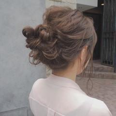 ミディアム 簡単ヘアアレンジ ナチュラル ヘアアレンジ ヘアスタイルや髪型の写真・画像