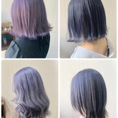 ウルフカット インナーカラー アンニュイほつれヘア ボブ ヘアスタイルや髪型の写真・画像