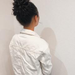 フェミニン お団子 ヘアセット アップスタイル ヘアスタイルや髪型の写真・画像
