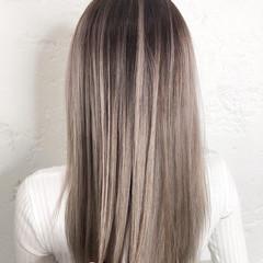 ストリート ヘアカラー ロング バレイヤージュ ヘアスタイルや髪型の写真・画像