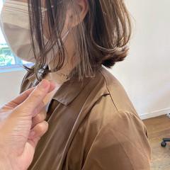 ウルフカット インナーカラー ショートボブ ボブ ヘアスタイルや髪型の写真・画像