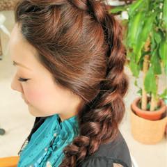 ショート 編み込み 簡単ヘアアレンジ ヘアアレンジ ヘアスタイルや髪型の写真・画像
