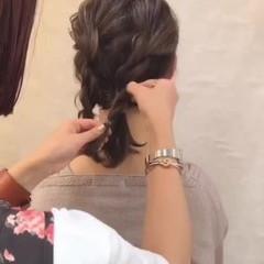 結婚式 ミディアム ナチュラル スポーツ ヘアスタイルや髪型の写真・画像