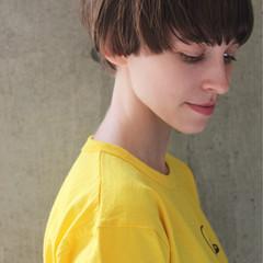 透明感 簡単ヘアアレンジ スポーツ ショート ヘアスタイルや髪型の写真・画像