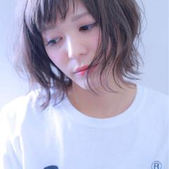 アンニュイ ダブルカラー ストリート ボブ ヘアスタイルや髪型の写真・画像