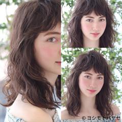 ウェーブ 涼しげ ヘアアレンジ アンニュイ ヘアスタイルや髪型の写真・画像