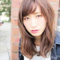 大人かわいい ミディアム ハイライト 外国人風 ヘアスタイルや髪型の写真・画像