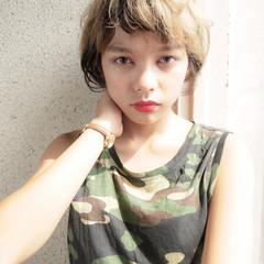 秋 小顔 透明感 ショート ヘアスタイルや髪型の写真・画像