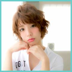 ヘアアレンジ ショート ガーリー モテ髪 ヘアスタイルや髪型の写真・画像