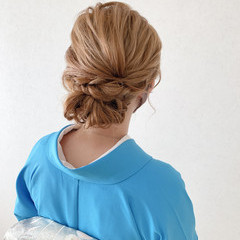 着物 訪問着 卒業式 結婚式 ヘアスタイルや髪型の写真・画像
