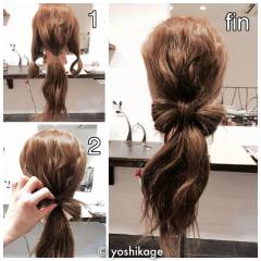 ショート ヘアアレンジ 簡単 簡単ヘアアレンジ ヘアスタイルや髪型の写真・画像