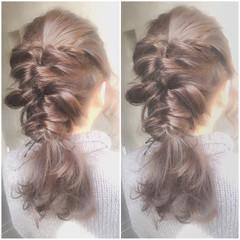 ゆるふわ フェミニン ヘアアレンジ ガーリー ヘアスタイルや髪型の写真・画像