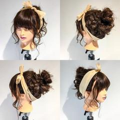 簡単 ガーリー ヘアアレンジ ショート ヘアスタイルや髪型の写真・画像