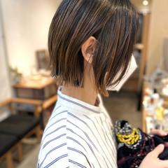 ミニボブ グラデーションカラー ボブ インナーカラー ヘアスタイルや髪型の写真・画像