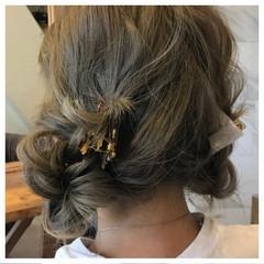 ミディアム 外国人風 フェミニン ヘアアレンジ ヘアスタイルや髪型の写真・画像