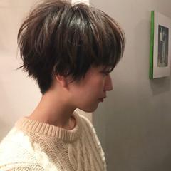 ショートボブ モード マッシュ ショート ヘアスタイルや髪型の写真・画像