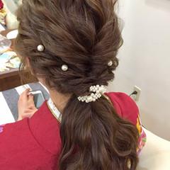 謝恩会 ロング 結婚式 ラフ ヘアスタイルや髪型の写真・画像