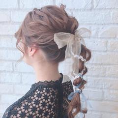 ラーメンマンヘア ロープ編みアレンジヘア ヘアアレンジ ロング ヘアスタイルや髪型の写真・画像