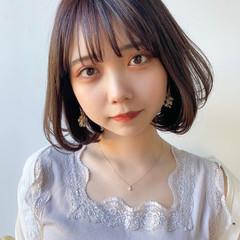ミニボブ 縮毛矯正 ナチュラル 韓国ヘア ヘアスタイルや髪型の写真・画像