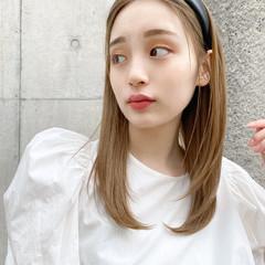 ヘアアレンジ ミルクティーベージュ ナチュラル ミルクティーグレージュ ヘアスタイルや髪型の写真・画像