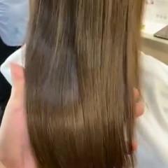 艶髪 髪質改善 ナチュラル ストレート ヘアスタイルや髪型の写真・画像