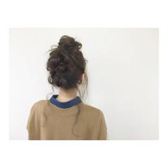 大人かわいい セミロング 簡単ヘアアレンジ アップスタイル ヘアスタイルや髪型の写真・画像