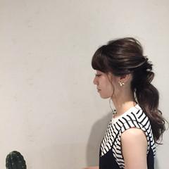 リラックス デート 簡単ヘアアレンジ 梅雨 ヘアスタイルや髪型の写真・画像