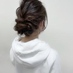 ロング お団子ヘア 結婚式ヘアアレンジ 結婚式アレンジ ヘアスタイルや髪型の写真・画像