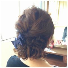 結婚式 ヘアアレンジ 波ウェーブ パーティ ヘアスタイルや髪型の写真・画像