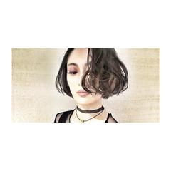 エレガント センターパート 黒髪 インナーカラー ヘアスタイルや髪型の写真・画像