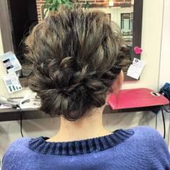 簡単ヘアアレンジ 成人式 ショート フェミニン ヘアスタイルや髪型の写真・画像