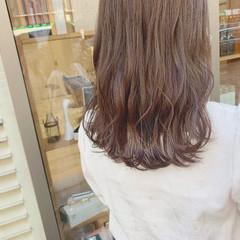 透明感カラー ベージュ 透明感 ミルクティーベージュ ヘアスタイルや髪型の写真・画像